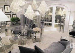 Luksusowe meble w szarościach i srebrze