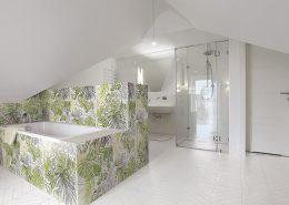Motyw roślinny w łazience
