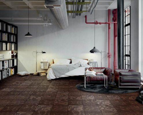 Płytki podłogowe w industrialnym lofcie Futuro