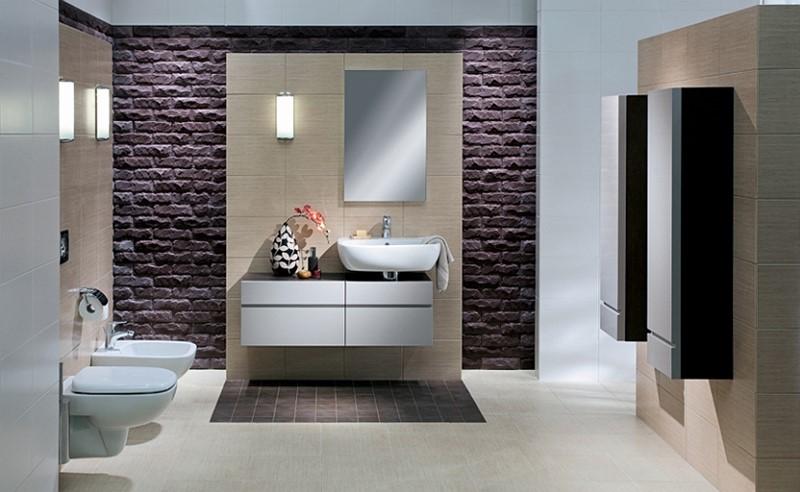 Pomysł na łazienkę płytki strukturalne