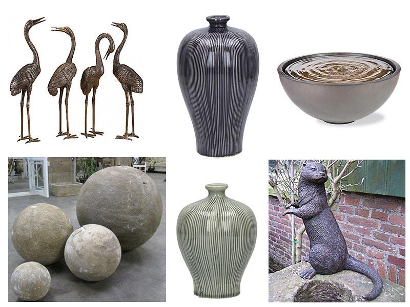 Rzeźby, donice i inne styl japoński