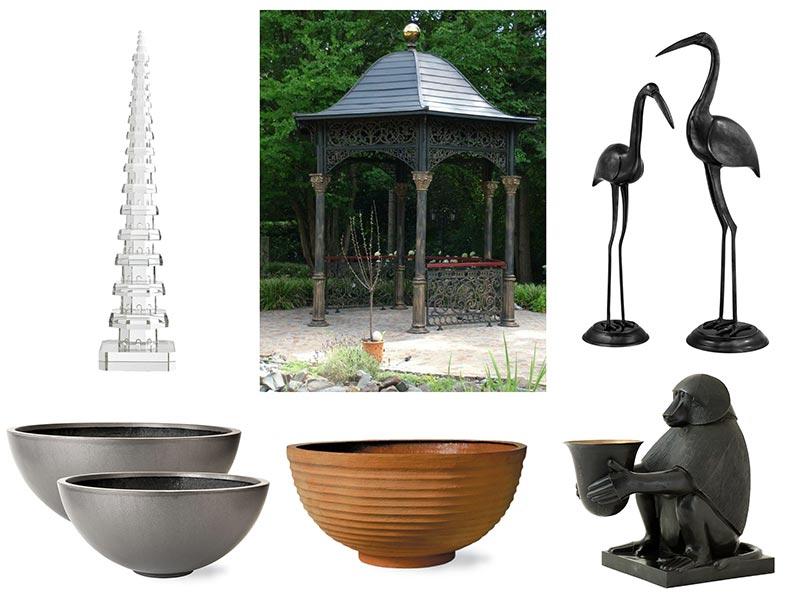Rzeźby, donice ogród japoński