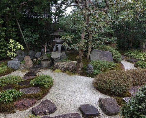Wystrój japońskiego ogrodu