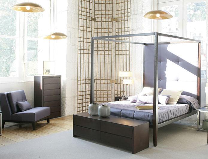 Łóżko z baldachimem HMD
