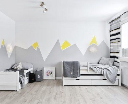 Biało-szary pokój dziecięcy