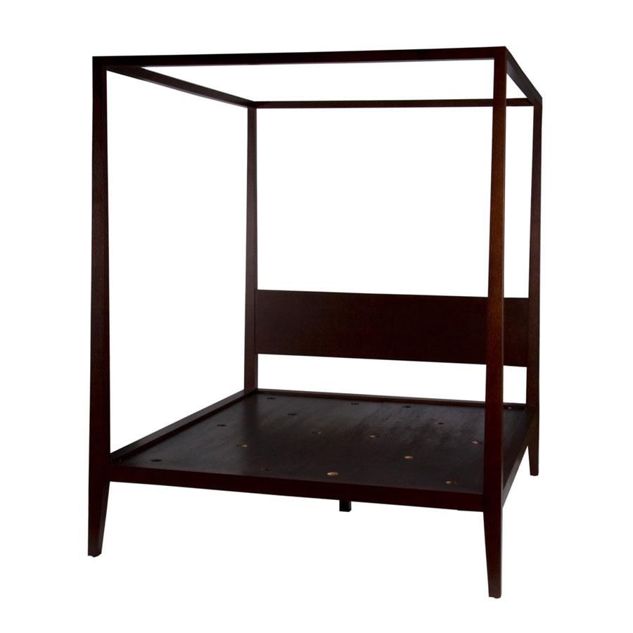 Drewniane łóżko z baldachimem Baldaquin Bed HMD