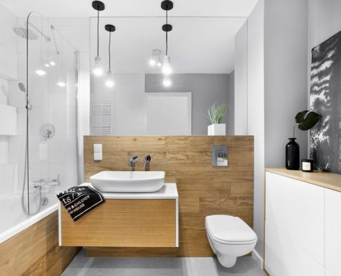 Drewno w nowoczesnej łazience