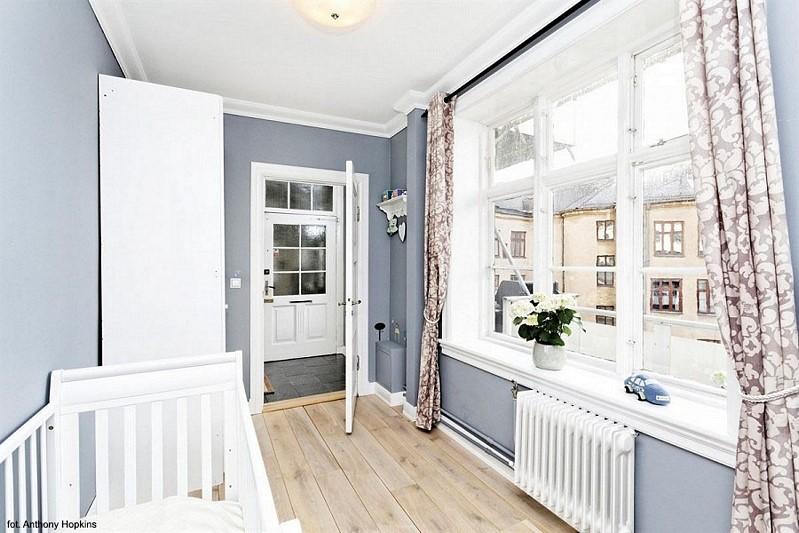 Niebieski pokój dla niemowlaka
