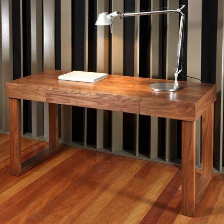 Nowoczesne biurko wykończone fornirem Dewa HMD