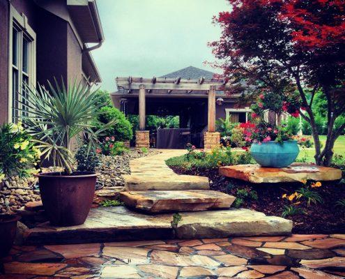 Ogród w kolonialnym stylu
