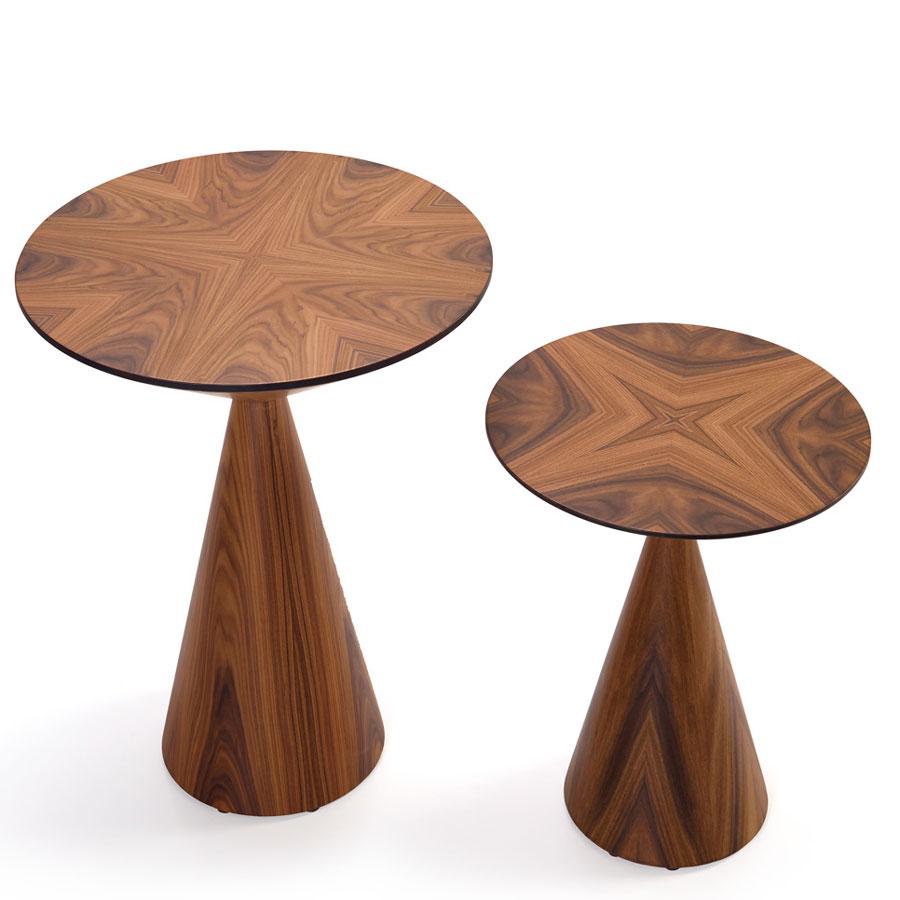Okrągły stolik pomocniczy na jednej nodze Lola