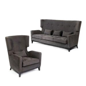 Sofa i fotel z wysokim oparciem Demetrio HMD