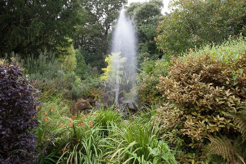 Fontanna w ogrodzie gejzer