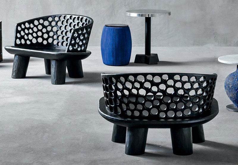 Designerskie krzesła Gervasoni, proj. Carve Mik