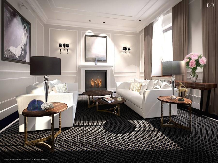 Jaki dywan do ciemnej podłogi modern classic