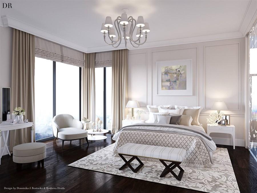 Jaki dywan do ciemnej podłogi sypialnia