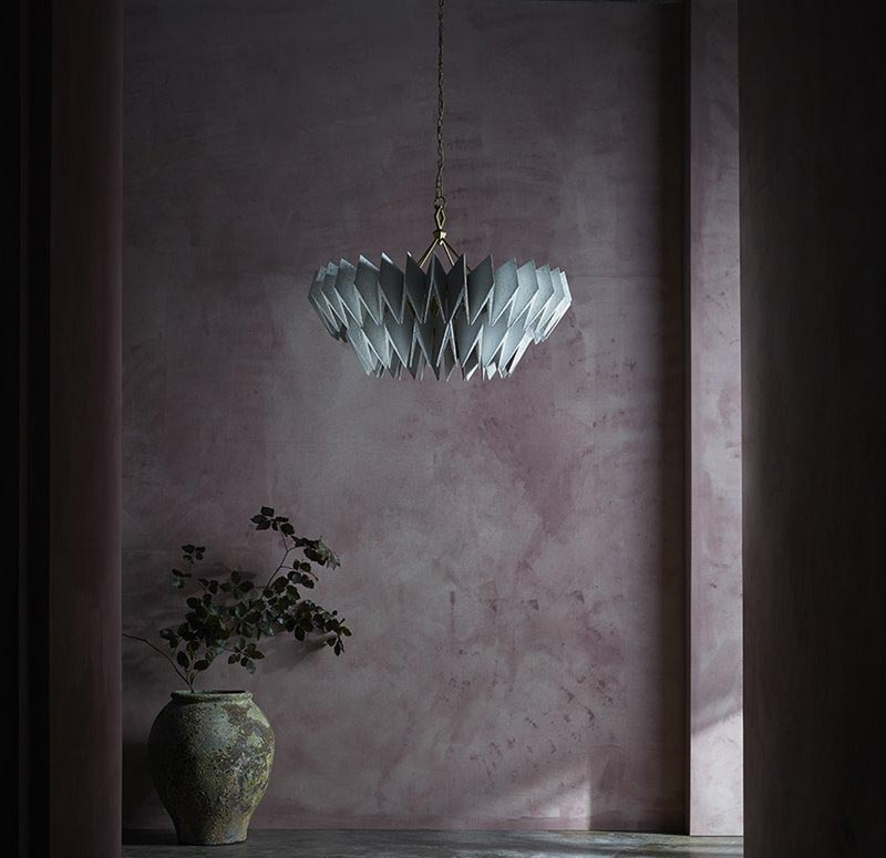 Lampy jako dzieła sztuki Porta Romana Stillness Axel