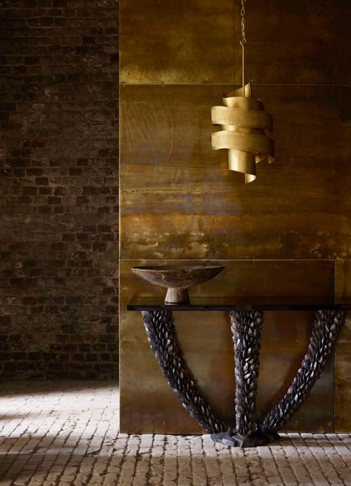 Porta Romana Nomad Mussel konsola Vortex lampa