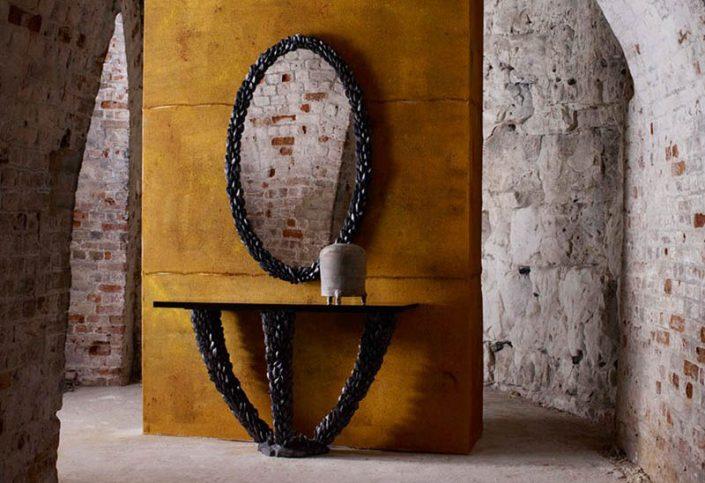Porta Romana Nomad Mussel konsola i lustro