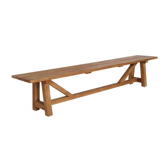 Tekowa ławka bez oparcia George Affaire  Sika