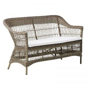 Klasyczna ławka ogrodowa z oparciem Charlot Georgia Garden  Sika