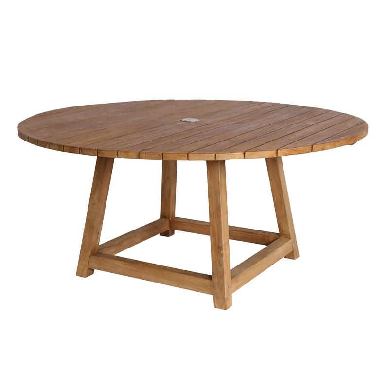 Okrągły stół ogrodowy teak George Affaire  Sika