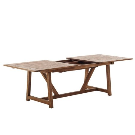 Rozkładany stół tekowy Lucas Loom Living  Sika