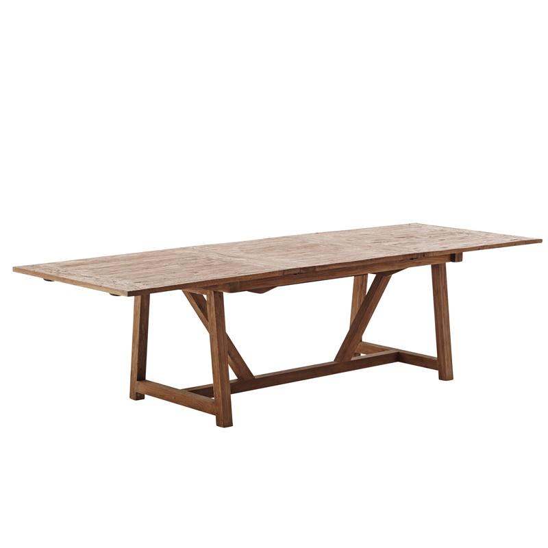 Rozkładany stół tekowy Lucas Loom Living  Sika 1