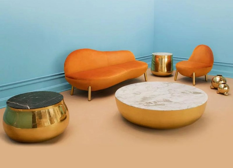 Cirrus Sofa Scarlet Splendour Ekskluzywne dekoracje i meble do biura