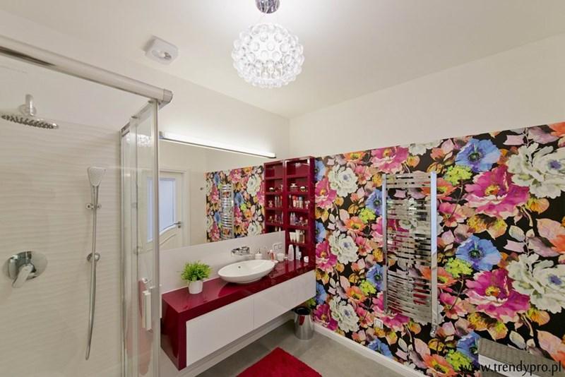 Kolorowe wnętrza łazienka