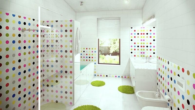 Kolorowe wnętrza jasna łazienka