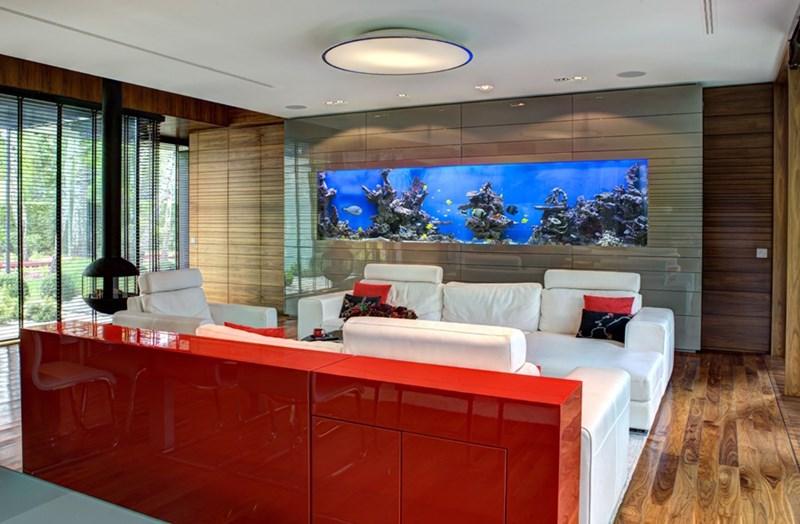 Kolorowe wnętrza salon na połysk