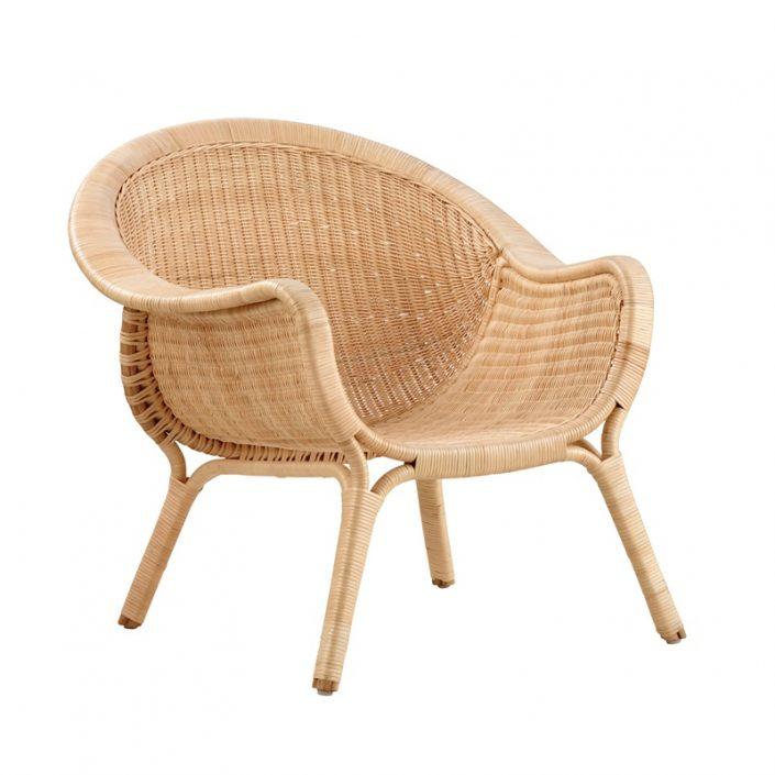 Nowoczesny fotel z wikliny Madame Icons  Sika