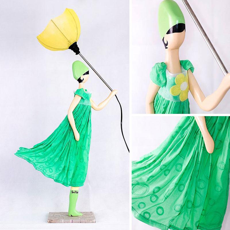 Zielone lampki do pokoju nastolatki SKITSO