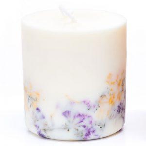 Świeca zapachowa z soi dziekie kwiaty i róża