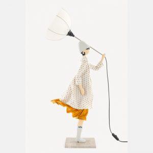 Biało-żółta lampka dziewczynka Androniki