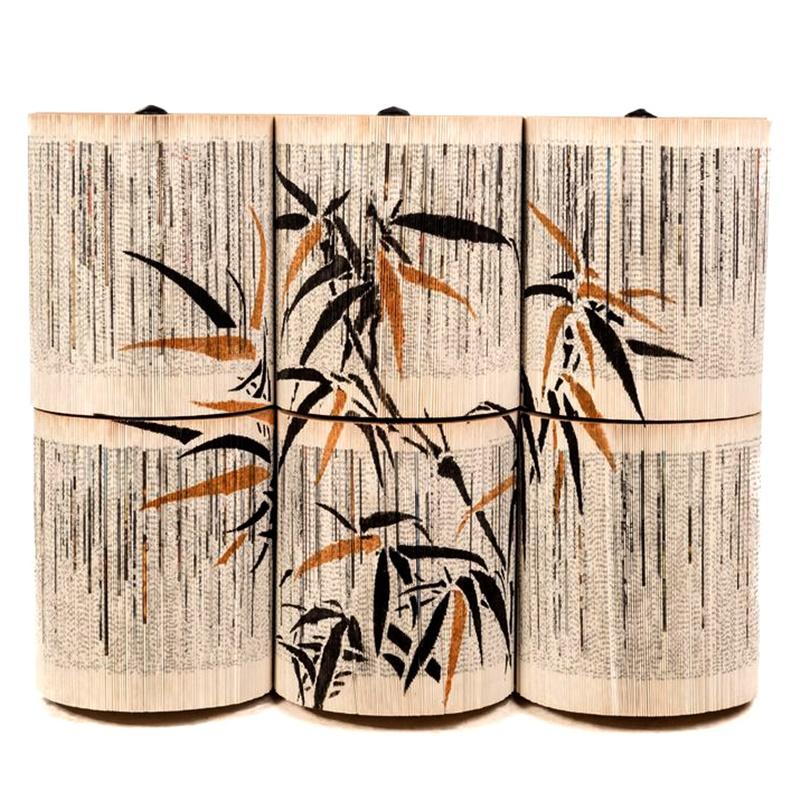 Papierowa rzeźba książka Crizu Bamboo Gold
