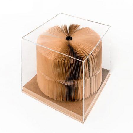 Papierowa rzeźba książka Crizu Bookworm