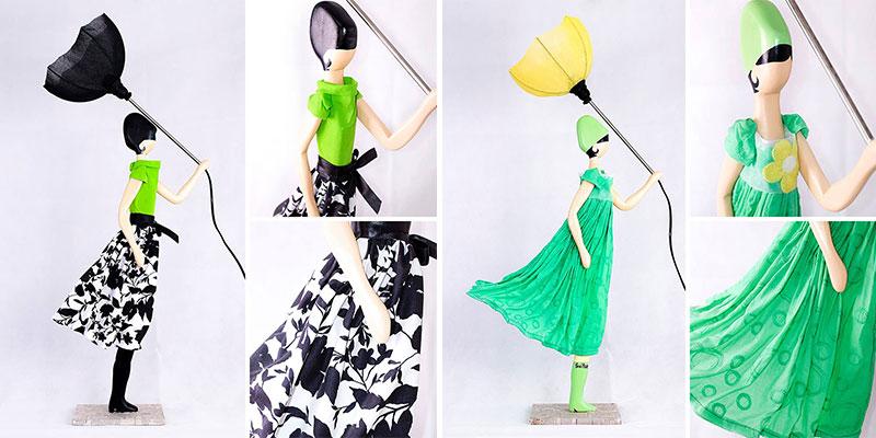 Skitso lampy kobiety