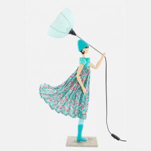 Turkusowa lampka dziewczynka Aurelia Skitso