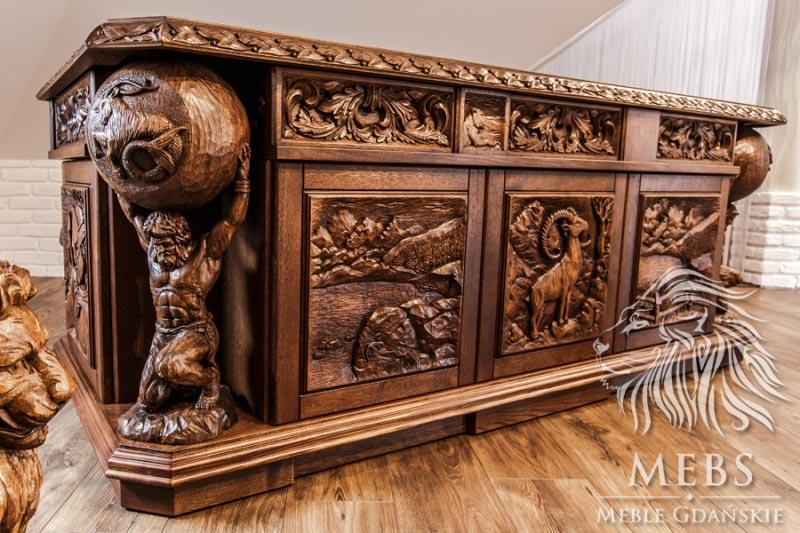 Meble artystyczne MebS biurko stylowe