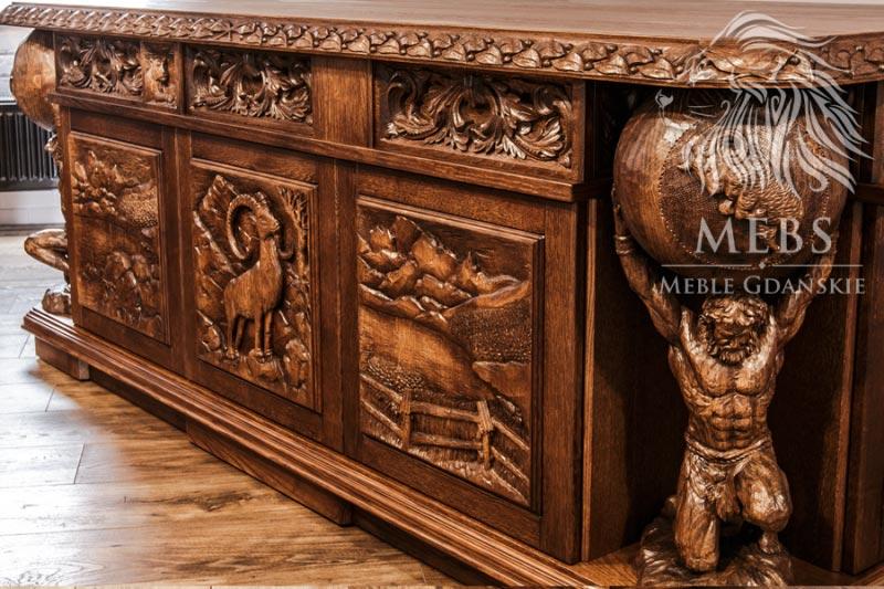 Meble artystyczne MebS oryginalne biurko