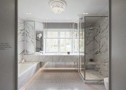 Duża łazienka w marmurze
