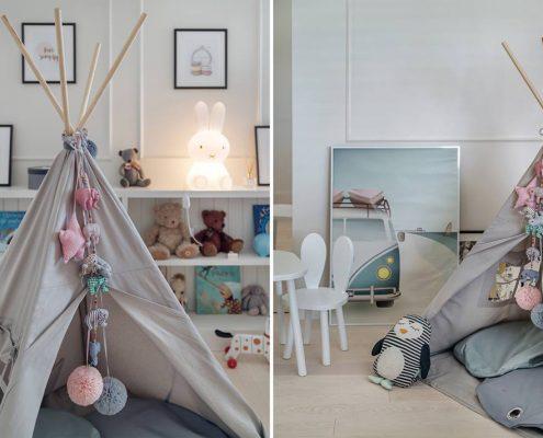 Kącik zabaw w pokoju dziecięcym