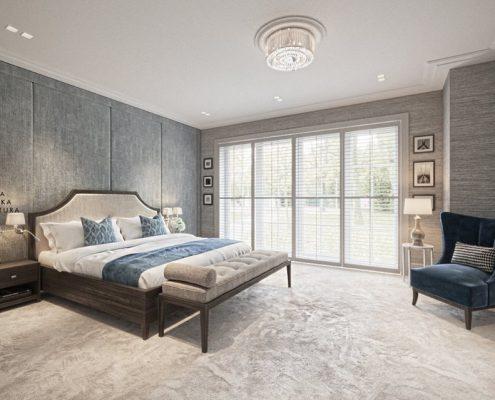 Projekt przytulnej sypialni w naturalnej kolorystyce