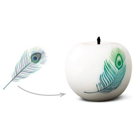Rzeźba Jabłko z grafiką na zmówienie