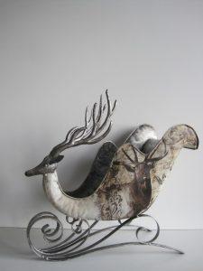 Świąteczne sanie z motywem jelenia Chr034