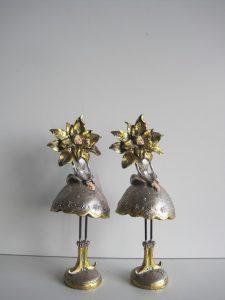Świąteczne statuetki gwiazdy betlejemskie złoto i srebro