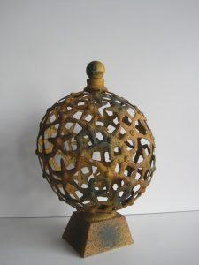 Świąteczny świecznik zewnętrzny żelazo