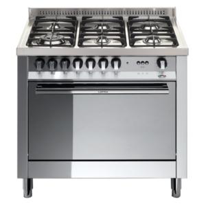 6-palnikowa kuchnia wolnostojąca gazowa z el. piekarnikiem MAXIMA INOX 90 MG96MFCIS Lofra